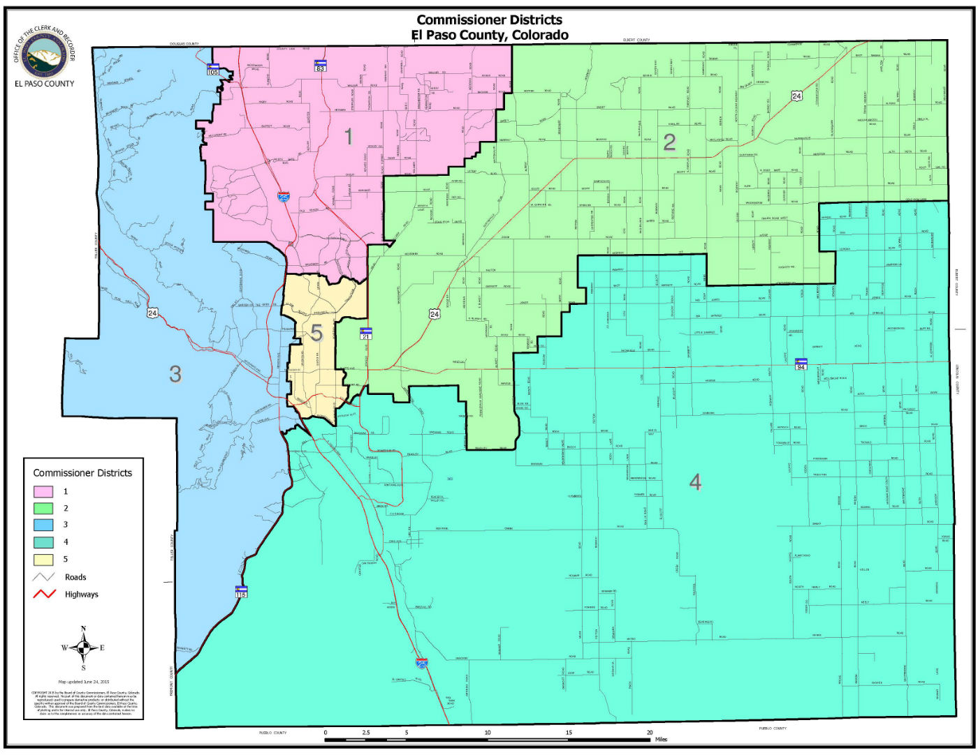 Commissioners District Map June 2015